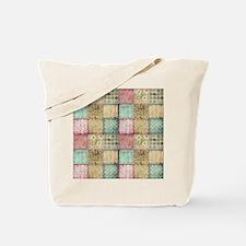 Vintage Quilt Tote Bag