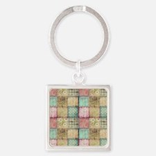 Vintage Quilt Square Keychain
