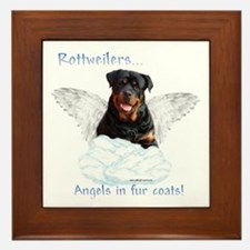 Rottie Angel Framed Tile