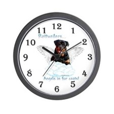 Rottie Angel Wall Clock