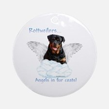 Rottie Angel Ornament (Round)