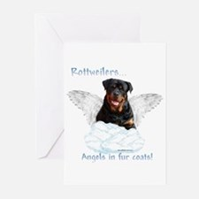 Rottie Angel Greeting Cards (Pk of 10)