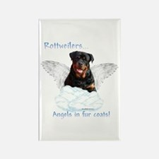 Rottie Angel Rectangle Magnet