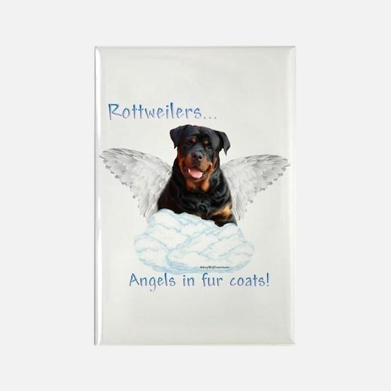 Rottie Angel Rectangle Magnet