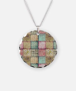 Vintage Quilt Necklace