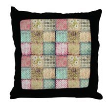 Vintage Quilt Throw Pillow