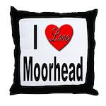 I Love Moorhead Throw Pillow