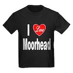 I Love Moorhead (Front) Kids Dark T-Shirt