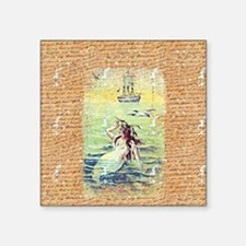 "Mermaid Square Sticker 3"" x 3"""