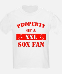 Property Of A Sox Fan (Red) T-Shirt