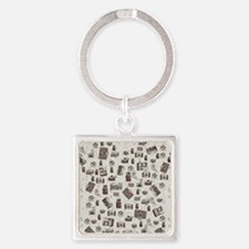 Vintage Cameras Square Keychain