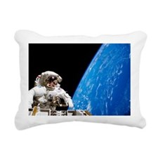 Astronaut performing a s Rectangular Canvas Pillow
