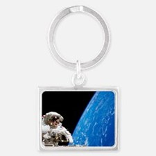 Astronaut performing a spacewal Landscape Keychain