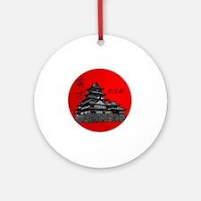 eisai round logo Round Ornament