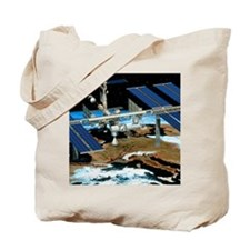 Artwork of the International Space Statio Tote Bag