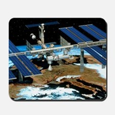 Artwork of the International Space Stati Mousepad