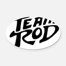 Team Rod Oval Car Magnet
