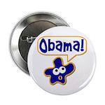 Obama! Metal Pinback Campaign Button