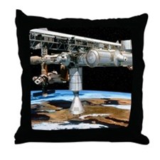 Artwork of the International Space St Throw Pillow