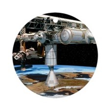 Artwork of the International Space  Round Ornament