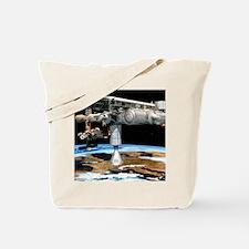 Artwork of the International Space Statio Tote Bag