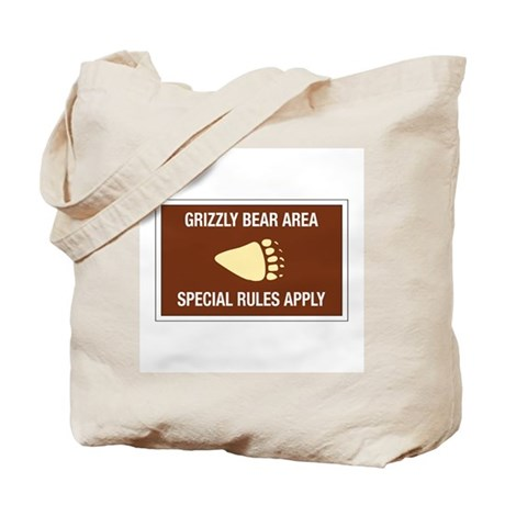 Grizzly Bear Area, Wyoming (US) Tote Bag