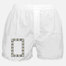 Grayscale Daisies and Burlap Photo Fr Boxer Shorts