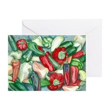 Peppers - Sm CGB Greeting Card