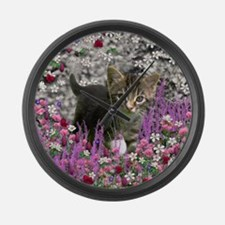 Emma in Flowers I Large Wall Clock