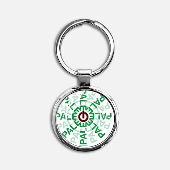 Paleo Power Wheel Round Keychain