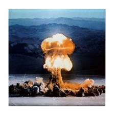 Atomic bomb explosion Tile Coaster