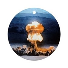 Atomic bomb explosion Round Ornament