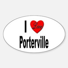 I Love Porterville Oval Decal