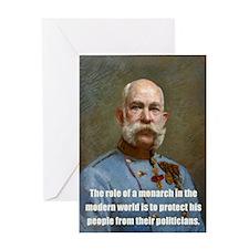 Franz Josef I Greeting Card
