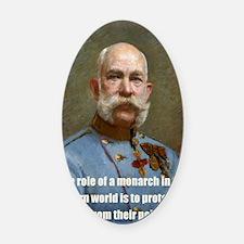 Franz Josef I Oval Car Magnet