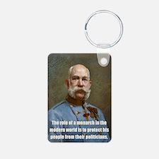 Franz Josef I Aluminum Photo Keychain