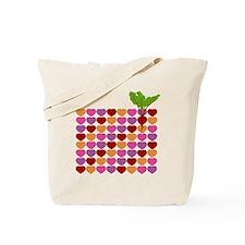 Organic HeartBeet Onesie Tote Bag