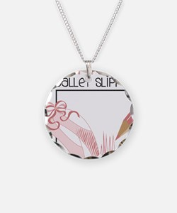 Pink Ballet Slippers Necklace