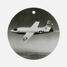 Bell X-1 in flight, the first super Round Ornament