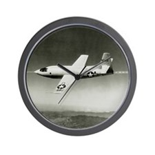 Bell X-1 in flight, the first supersoni Wall Clock