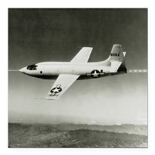 "Bell X-1 in flight, the  Square Car Magnet 3"" x 3"""
