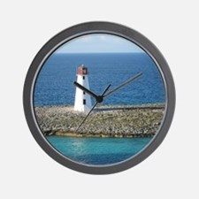 Lighthouse in the Bahamas Wall Clock