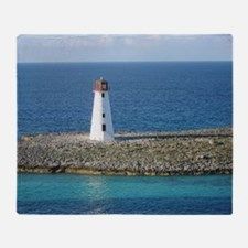 Lighthouse in the Bahamas Throw Blanket