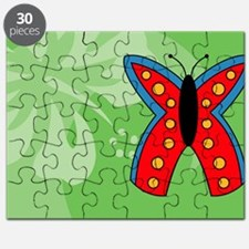 Butterfly Rectangle Car Magnet Puzzle