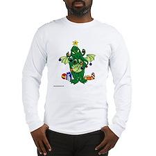 Christmas_Chtulhu_reusable_sho Long Sleeve T-Shirt