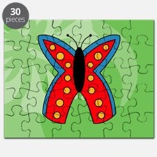 Butterfly Oval Car Magnet Puzzle