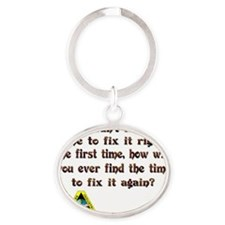 Fix it Oval Keychain