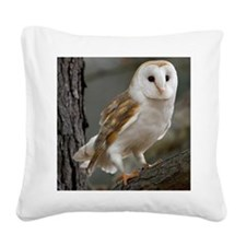 Barn owl Square Canvas Pillow