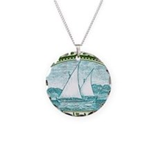 1937 Aden Dhow Boat Postage  Necklace