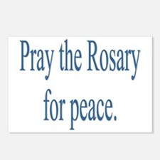 Rosary prayer for peace Postcards (Package of 8)